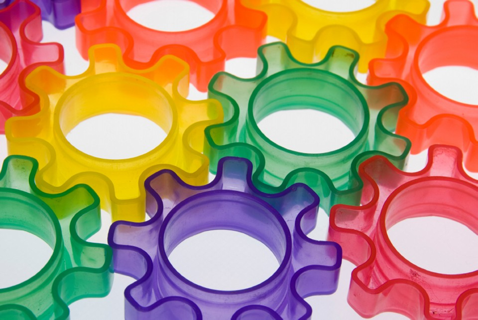Colourful cogs